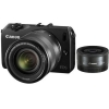 Canon EOS M Kit 22 f/2 STM+18-55 STM+flash